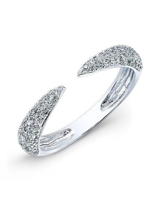 Anne Sisteron - Metallic 14kt White Gold Diamond Horn Ring - Lyst
