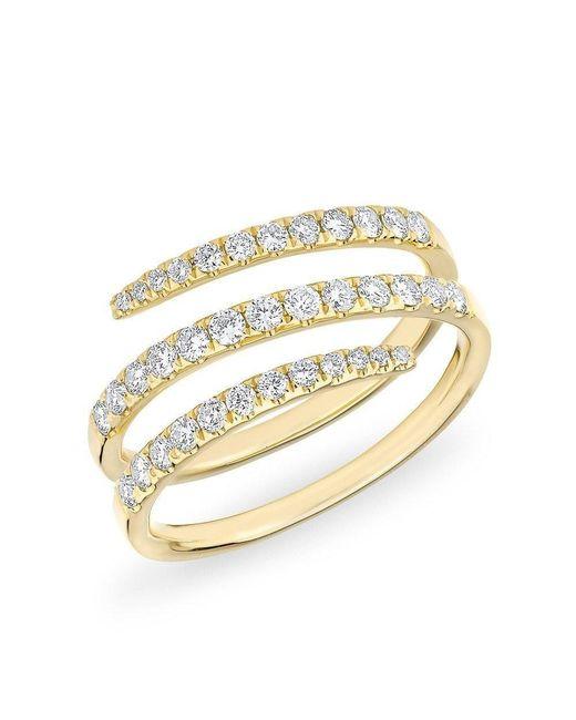 Anne Sisteron - Metallic 14kt Yellow Gold Half Diamond Spring Ring - Lyst