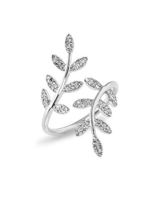 Anne Sisteron - Metallic 14kt White Gold Diamond Ivy Ring - Lyst