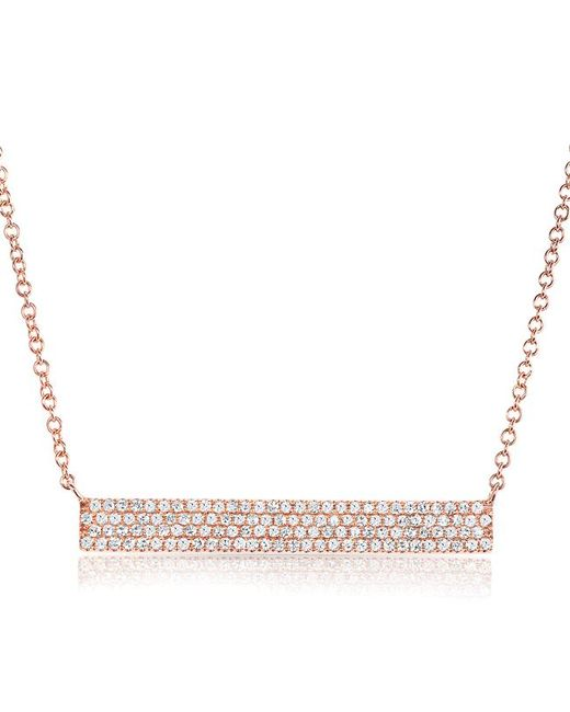 Anne Sisteron - Metallic 14kt Rose Gold Diamond Long Brick Necklace - Lyst