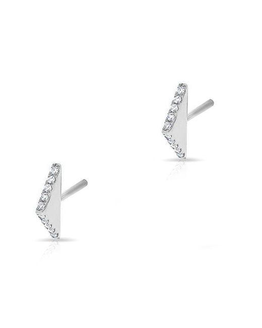 Anne Sisteron - 14kt White Gold Diamond Mini Edge Bar Earrings - Lyst