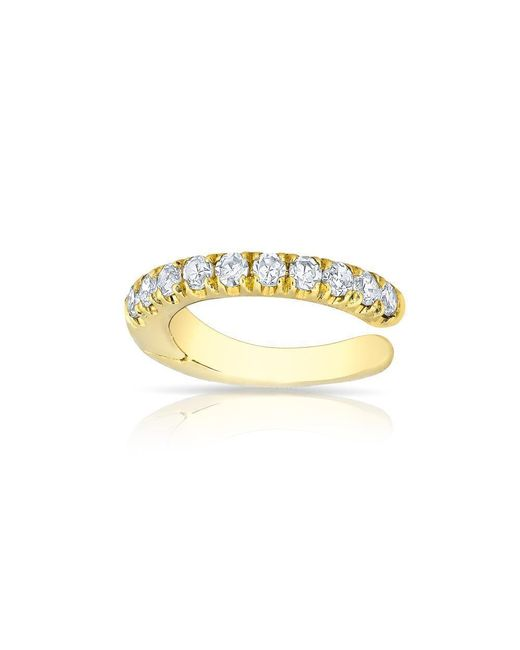 Anne Sisteron - Metallic 14kt Yellow Gold Diamond Lola Hinged Ear Cuff - Lyst