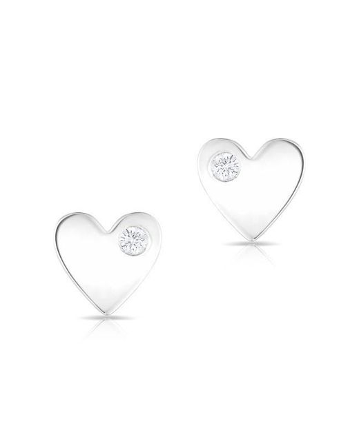 Anne Sisteron - Multicolor 14kt White Gold Diamond In My Heart Stud Earrings - Lyst