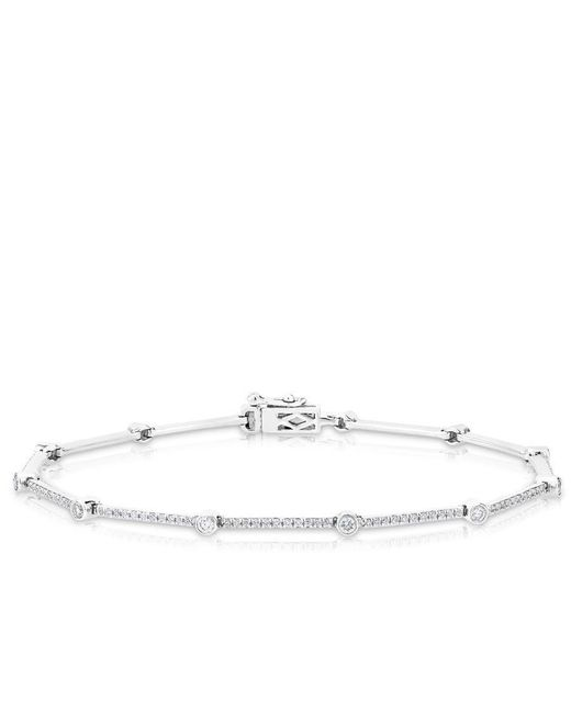 Anne Sisteron | 14kt White Gold Diamond Bar Links Bracelet | Lyst