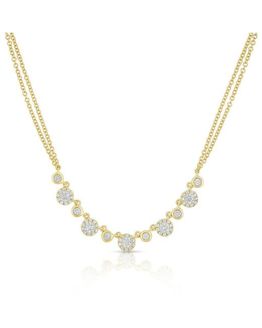 Anne Sisteron - Metallic 14kt Yellow Gold Diamond Double Chain Danielle Necklace - Lyst