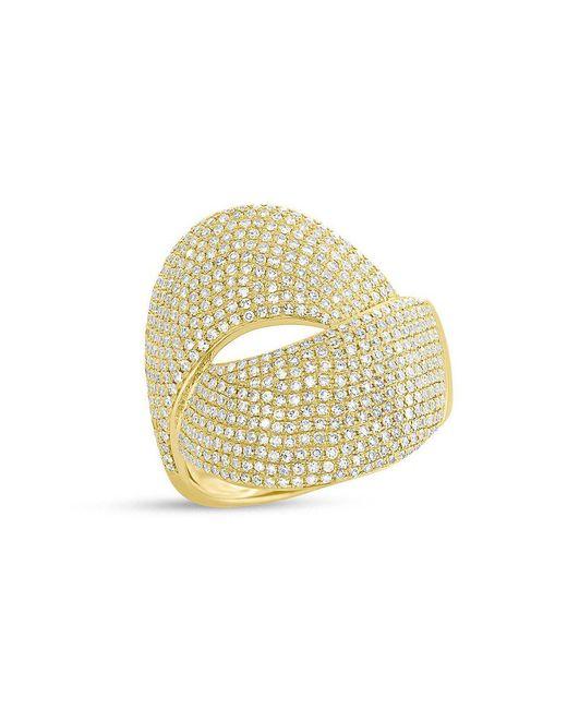Anne Sisteron - Metallic 14kt Yellow Gold Diamond Luxe Twist Ring - Lyst