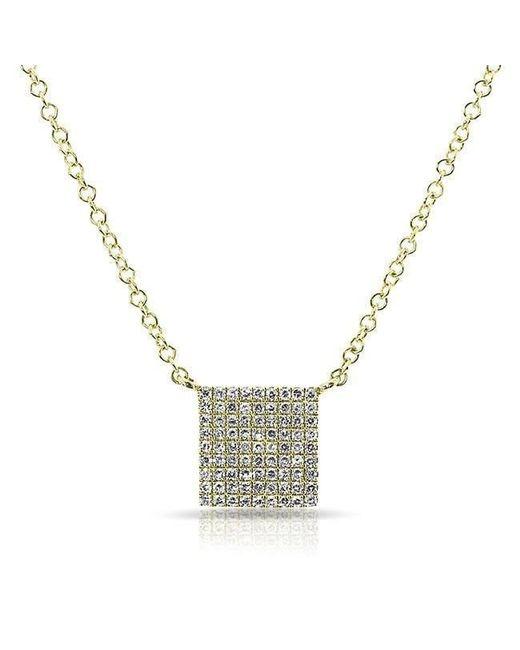 Anne Sisteron - Metallic 14kt Yellow Gold Diamond Square Necklace - Lyst
