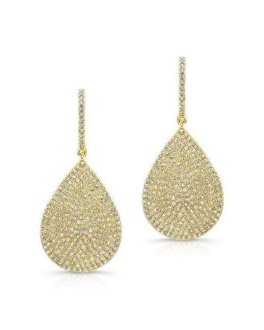 Anne Sisteron - Metallic 14kt Yellow Gold Diamond Large Pear Shaped Earrings - Lyst
