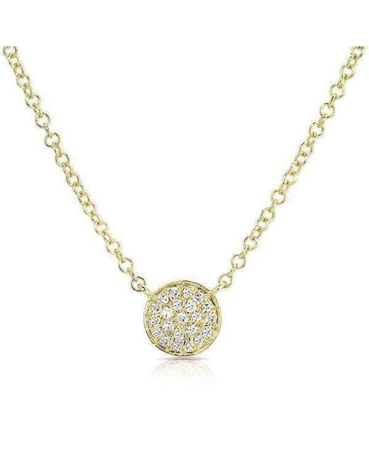 Anne Sisteron | Metallic 14kt Yellow Gold Diamond Mini Disc Necklace | Lyst