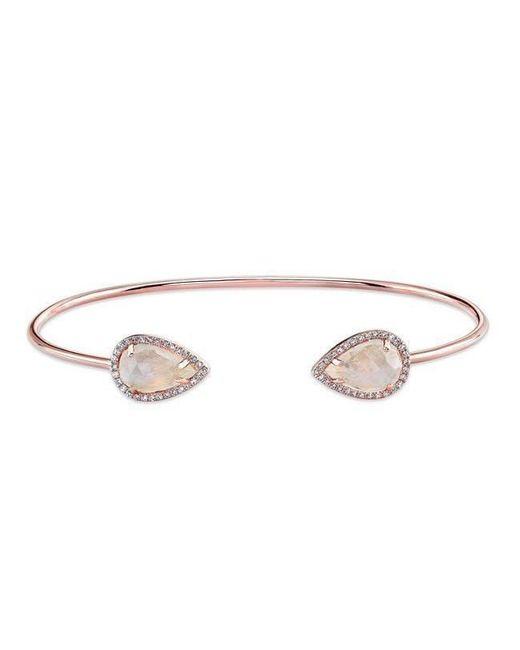 Anne Sisteron - Metallic 14kt Rose Gold Moonstone Diamond Throne Cuff - Lyst