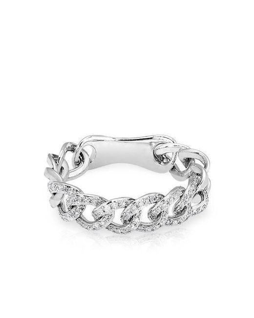 Anne Sisteron - 14kt White Gold Diamond Chain Link Light Ring - Lyst