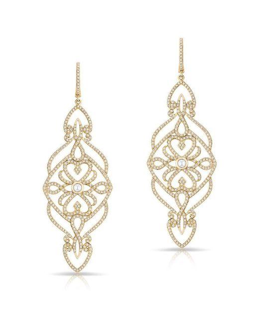 Anne Sisteron - Metallic 14kt Yellow Gold Diamond Manoir Diamond Earrings - Lyst