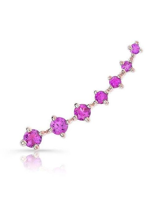 Anne Sisteron - Multicolor 14kt Rose Gold Large Ruby Organic Ear Climber - Lyst