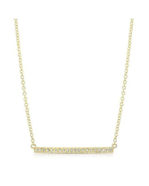 Anne Sisteron - Metallic 14kt Yellow Gold Diamond Bar Necklace - Lyst