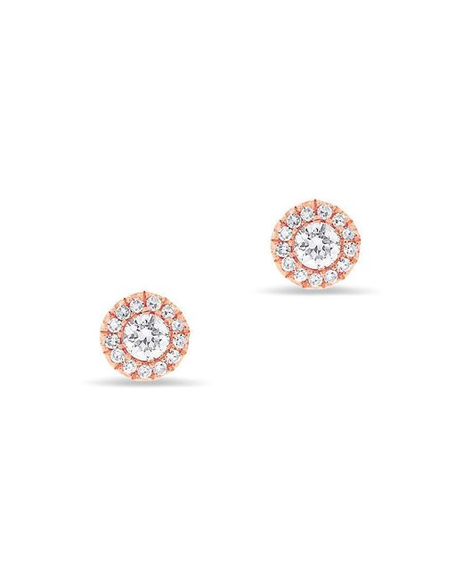 Anne Sisteron - Pink 14kt Rose Gold Diamond Ava Stud Earrings - Lyst