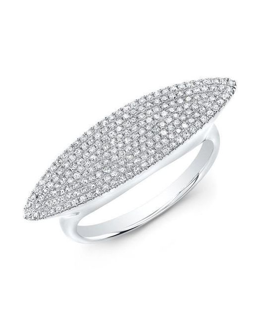 Anne Sisteron - Metallic 14kt White Gold Diamond Capri Ring - Lyst