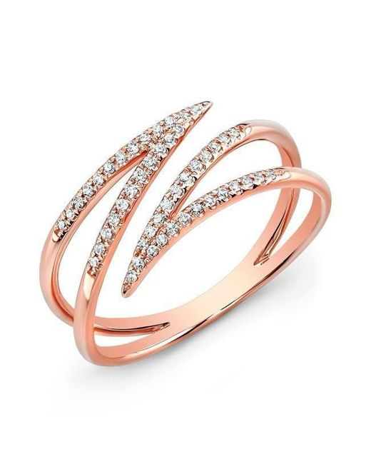 Anne Sisteron - Metallic 14kt Rose Gold Diamond Spike Wrap Ring - Lyst