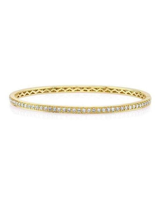 Anne Sisteron - Metallic 14kt Yellow Gold Diamond Shine Bangle Bracelet - Lyst