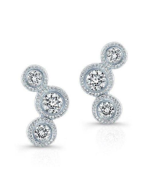 Anne Sisteron - Multicolor 14kt White Gold Bezel Set Diamond Hazel Earrings - Lyst