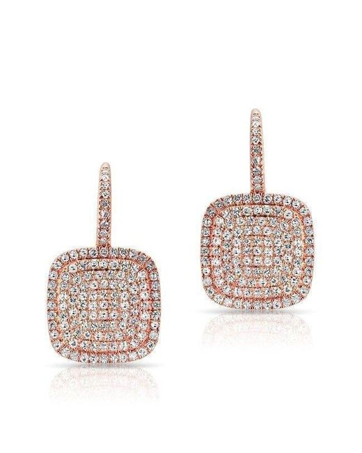 Anne Sisteron | Multicolor 14kt Rose Gold Diamond Cushion Earrings | Lyst