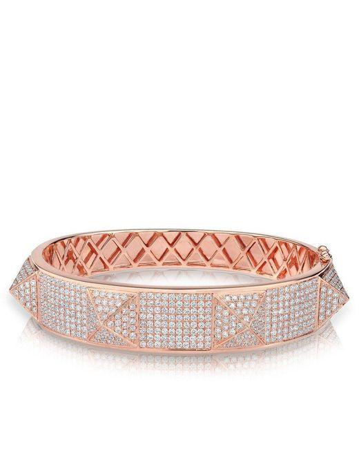 Anne Sisteron - Multicolor 14kt Rose Gold Diamond Reve Bangle Bracelet - Lyst