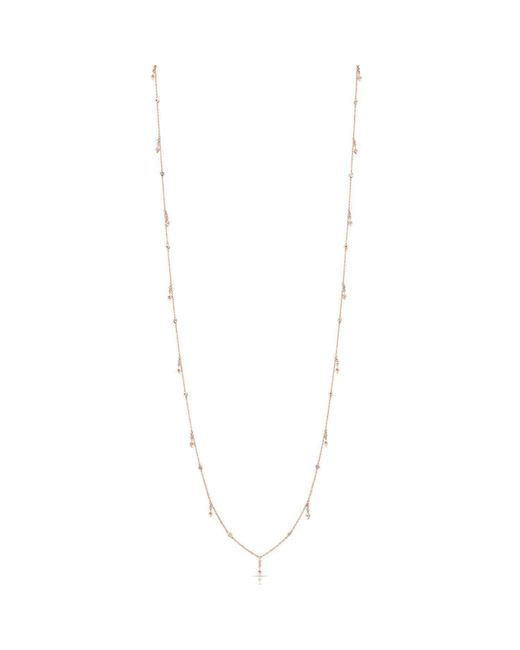 Anne Sisteron | Metallic 14kt Rose Gold Diamond Solitaire Drops Layering Necklace | Lyst