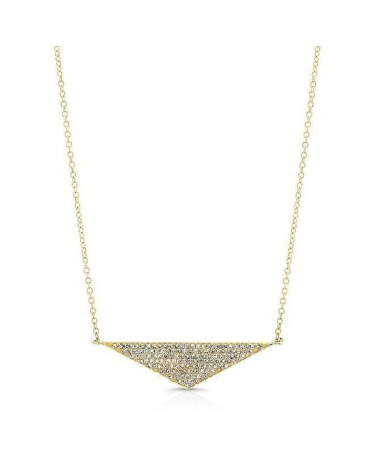 Anne Sisteron - Metallic 14kt Yellow Gold Diamond Golden Triangle Necklace - Lyst