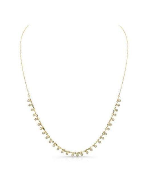 Anne Sisteron | Metallic 14kt Yellow Gold Diamond Multi Circle Necklace | Lyst