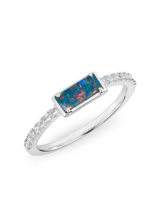 Anne Sisteron - Multicolor 14kt White Gold Diamond Opal Maddie Diamond Ring - Lyst