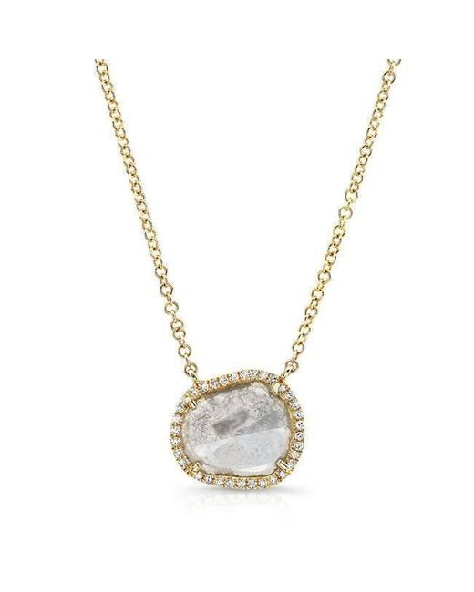 Anne Sisteron - Metallic 14kt Yellow Gold Elegant Diamond Slice Necklace - Lyst