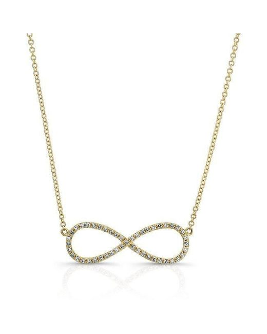 Anne Sisteron - Metallic 14kt Yellow Gold Diamond Large Infinity Necklace - Lyst