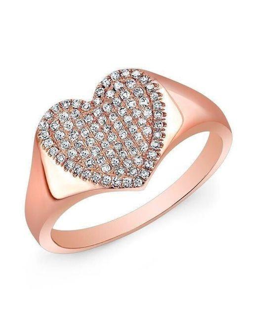 Anne Sisteron - Multicolor 14kt Rose Gold Diamond Triple Star Ring - Lyst