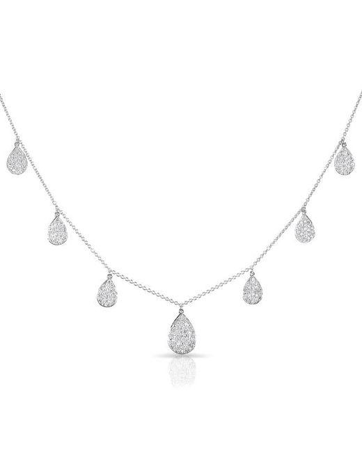 Anne Sisteron - 14kt White Gold Diamond Medium Tessa Necklace - Lyst