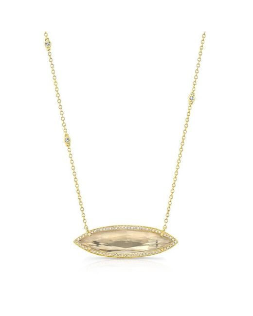 Anne Sisteron | Metallic 14kt Yellow Gold Triple Diamond Chain Serena Necklace | Lyst