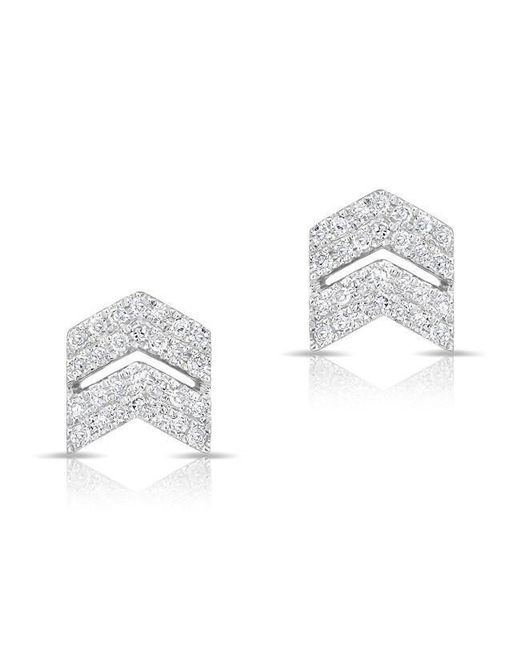 Anne Sisteron - Multicolor 14kt Rose Gold Diamond Double Maverick Chevron Diamond Stud Earrings - Lyst