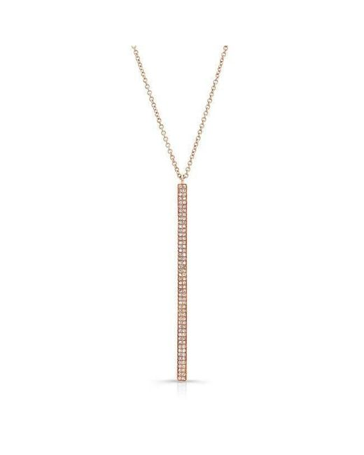 Anne Sisteron - Metallic 14kt Rose Gold Diamond Beam Necklace - Lyst