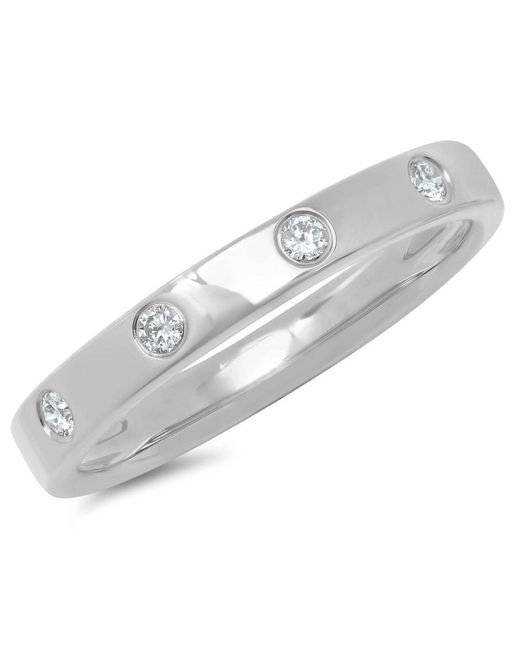 Anne Sisteron - Metallic 14kt White Gold Diamond Sparkle Band Ring - Lyst