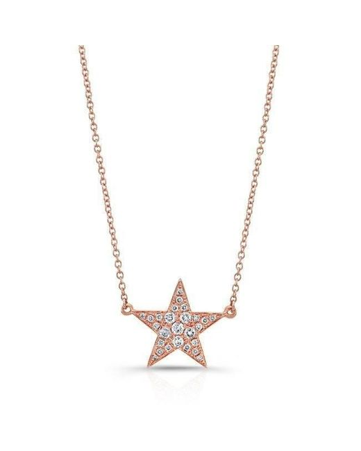Anne Sisteron | Metallic 14kt Rose Gold Diamond Star Necklace | Lyst