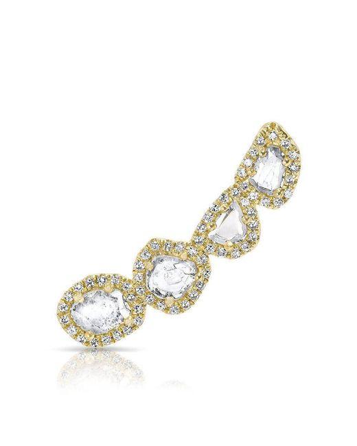 Anne Sisteron - Metallic 14kt Yellow Gold Diamond Slice Ear Climber - Lyst