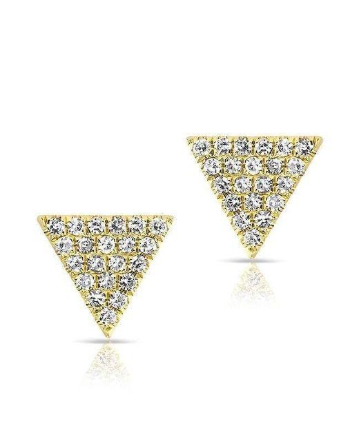 Anne Sisteron - Metallic 14kt Yellow Gold Diamond Small Triangle Emma Stud Earrings - Lyst