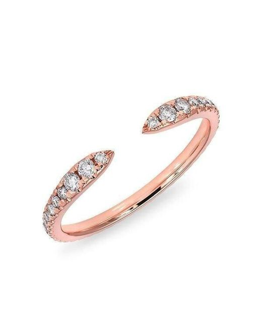Anne Sisteron - Pink 14kt Rose Gold Diamond Pierce Ring - Lyst