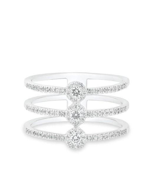 Anne Sisteron - Multicolor 14kt White Gold Diamond Triple Lauren Ring - Lyst