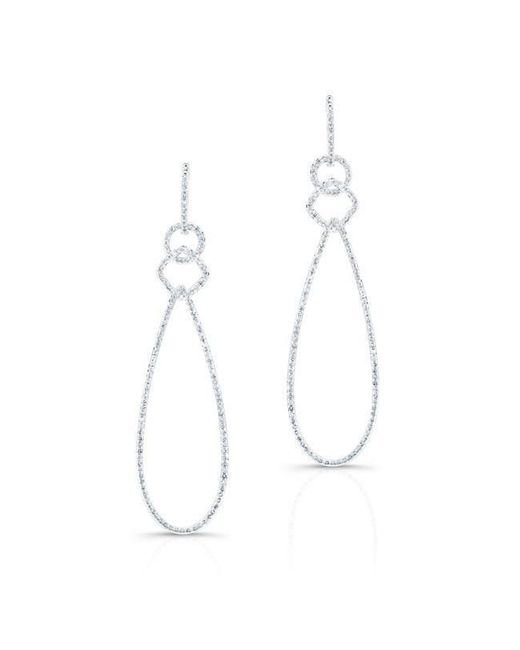 Anne Sisteron - Metallic 14kt White Gold Diamond Open Pear Link Drop Earrings - Lyst