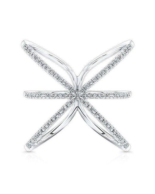 Anne Sisteron - Metallic 14kt White Gold Diamond Starburst Ring - Lyst