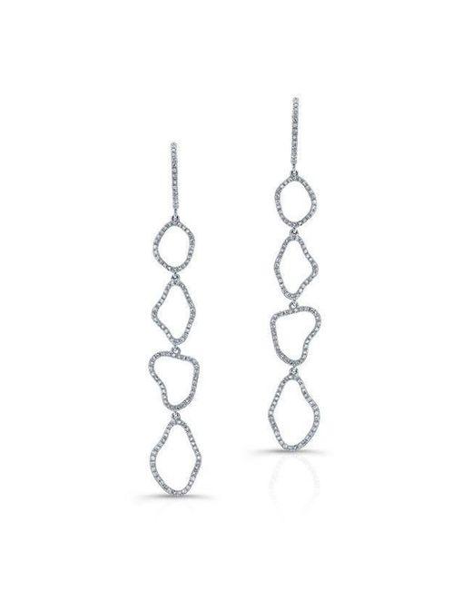Anne Sisteron - Metallic 14kt White Gold Diamond Organic Open Drop Earrings - Lyst