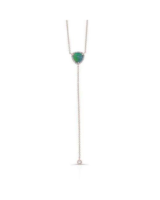 Anne Sisteron - Metallic 14kt Rose Gold Diamond Opal Lariat Flirt Lariat Necklace - Lyst