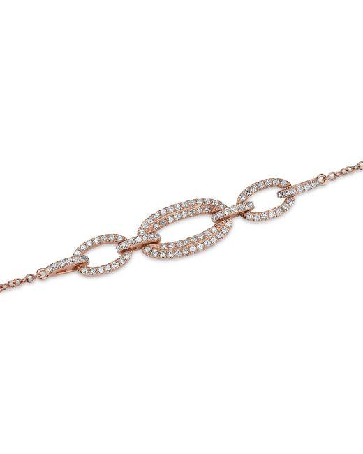 Anne Sisteron - Metallic 14kt Rose Gold Three Link Chain Bracelet - Lyst