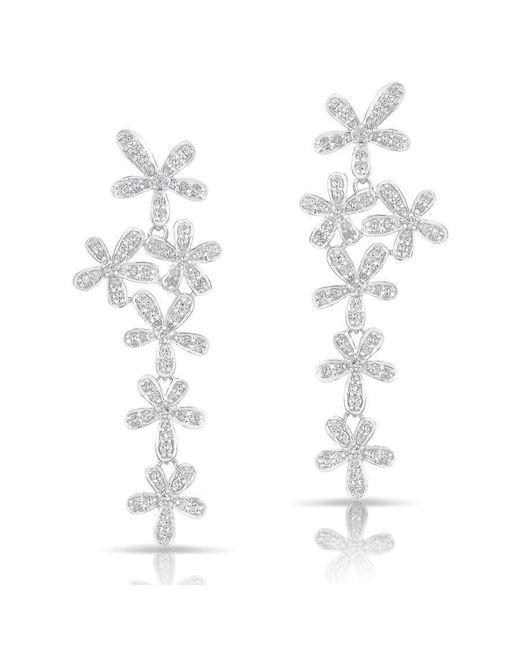 Anne Sisteron | 14kt White Gold Diamond Wildflower Earrings | Lyst