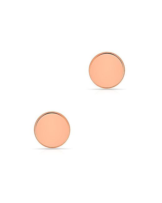 Anne Sisteron - Multicolor 14kt Solid Rose Gold Circle Stud Earrings - Lyst