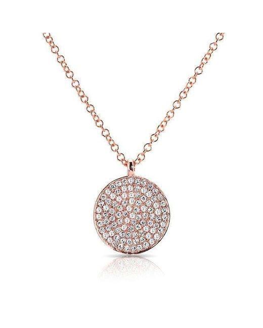 Anne Sisteron - Multicolor 14kt Rose Gold Diamond Circlet Diamond Disc Necklace - Lyst